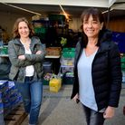 Jo Rosenblatt and Naomi Russell who run Food Bank Aid from a garage in Highgate