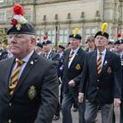 Veterans march past the Fusiliers Museum in a previous Gallipoli Day parade in Bury