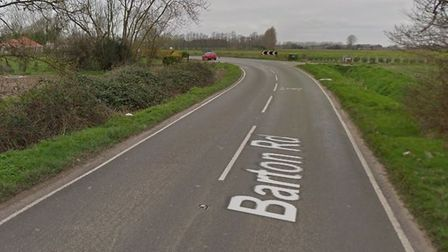 The single-vehicle collision happened on Barton Road, between Wisbech and Wisbech St Mary