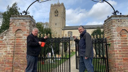 Gates at Wisbech St Mary Church have reappeared following a £400 makeover courtesy of the parish council.