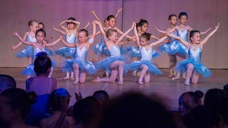 Kids performing for Hampstead Ballet School