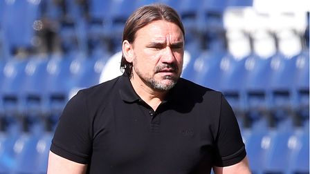 Norwich Head Coach Daniel Farke during the Sky Bet Championship match at Deepdale, Preston