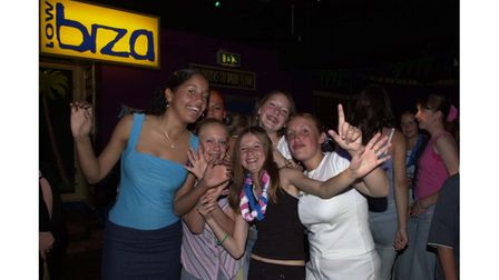 Having fun at the Lowbiza Summer Beach party at Lix's Nightclub in Felixstowe in 2002