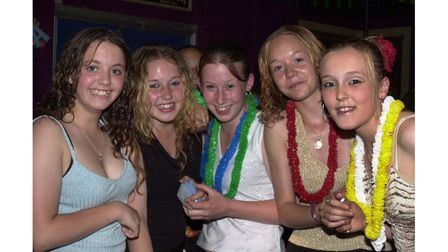 Youngsters enjoying themselves at the Lowbiza Summer Beach party at Lix's Nightclub in 2002