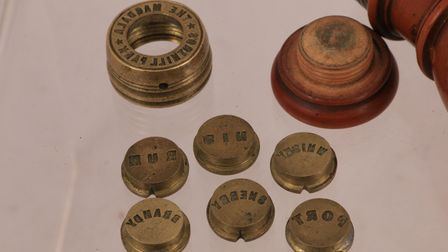 The interchangeable ends of the wax sealer used at the Magdala in the late 19th century