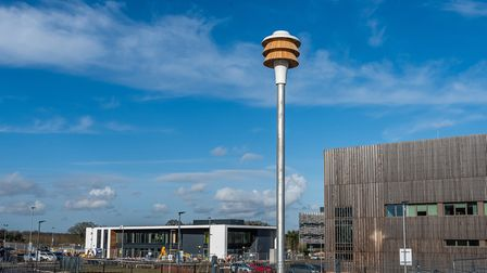 Commissioned by Norwich developers RG Carter, to swift nesting tower isnow in place