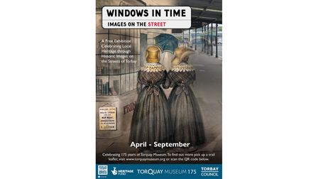 Windows in Time Poster showing the Alphington Ponies on the Strand