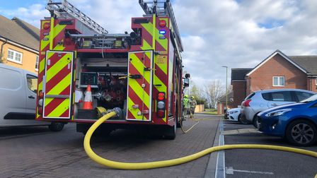 Royston crews tackled a well-developed fire in Sussex Drive yesterday