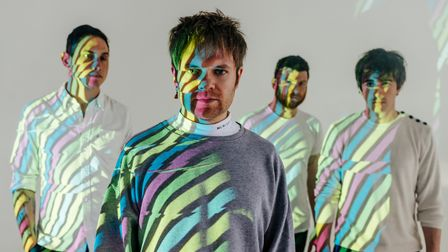 St Albans band Enter Shikari -Rob Rolfe, Rou Reynolds, Rory Clewlow and Chris Batten.