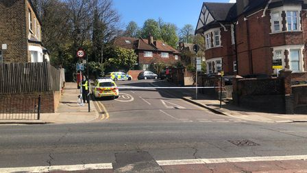 A police cordon in place