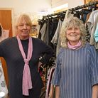 Julie Ambrose, a volunteer and Dee Porter, one of the Trustee's at The Hospital Ward shop.