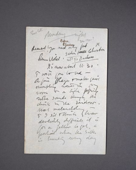 One of Sir Alfred Munnings' letters