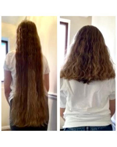 Kyla Dixon donated hair to the Little Princess Trust
