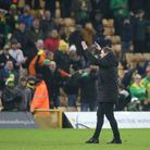 Daniel Farke had a rare chance to salute Norwich City fans earlier this season against Sheffield Wednesday
