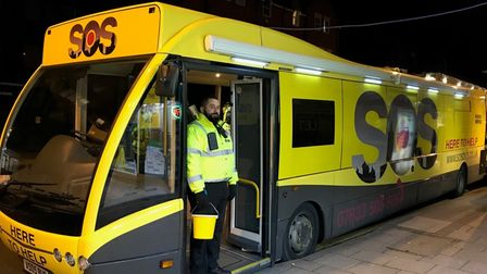 The SOS Bus will be back in operation in Norwich from Saturday, April 17.
