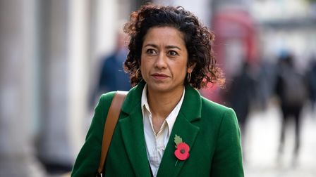 Journalist, writer and broadcaster Samira Ahmed arrives at the Central London Employment Tribunal, V