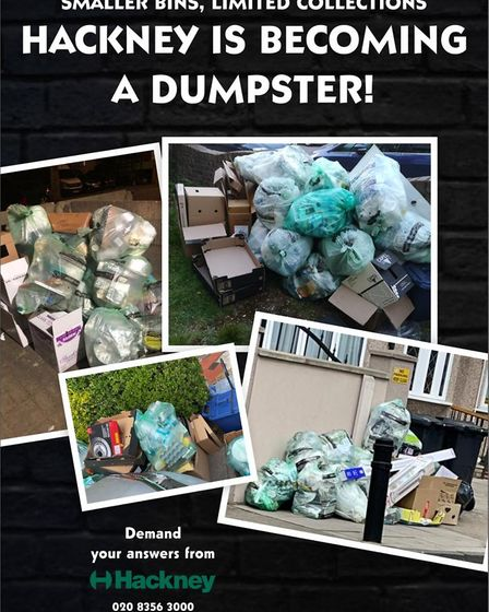 Awareness campaign says Hackney is becoming a dumpster.
