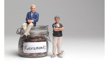 Retired couple with retirement savings