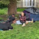 Rough sleepers in old vicarage gardens Wisbech