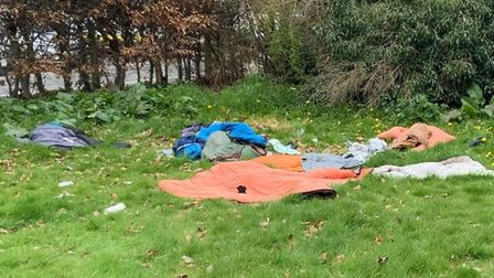 Rough sleeper camp in Wisbech