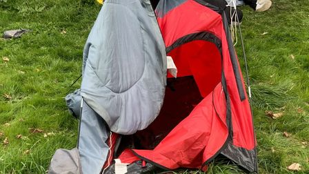 Rough sleepers set up camp in Wisbech