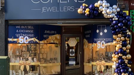 Cohens Jewellers with a special 50th anniversary display