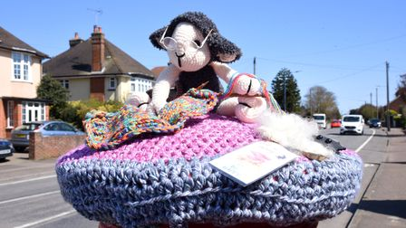 Debby Cloud from the Wool Baa arts and craft shop in Hamilton Road has created the post boxes toppers