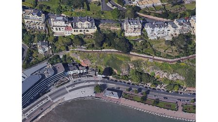 Aerial view of flats plan site