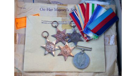 Arthur Squires' Second World War medals.