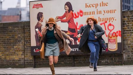 Keira Knightley and Jessie Buckley in Misbehaviour (2020). Picture: PA