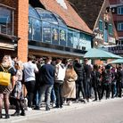People flocked to Isaacs to make the most of the first weekend of restrictions easing. Picture: Sara