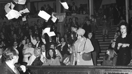 The Miss World contest caused a feminist storm in 1970 as demonstrators invaded the Royal Albert Hal