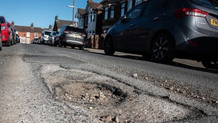 Residents have raised concerns over potholes on Darwin Road in Ipswich. Picture: Sarah Lucy Brown