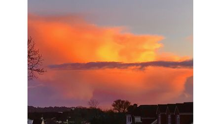 Fiery red skies over Torbay