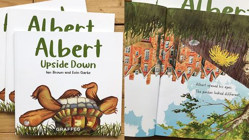 Former Herts Advertiser reporter Ian Brown and Eoin Clarke have created children's picture book Albert Upside Down