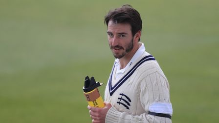 Middlesex's Toby Roland-Jones during the LV= Insurance County Championship match at Lord's Cricket G