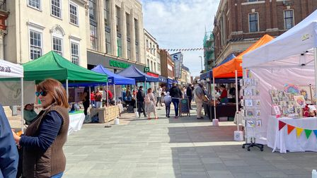 There were 25 different stalls at the Ipswich vegan market