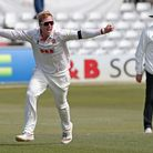 Simon Harmer of Essex claims the wicket of Ned Eckersley during Essex CCC vs Durham CCC, LV Insuranc