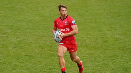 Alex Lewington scored the first of eight tries for Saracens at Doncaster