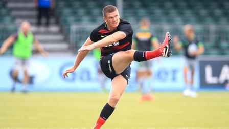 Owen Farrell returned to action for Saracens in their Championship match at Doncaster