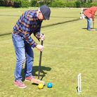 Beginners practising at Nailsea & District Croquet Club