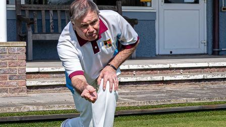 Nailsea Bowls Club's men's captain Derek Clarke starts the new season