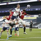 Tottenham Hotspur's Gareth Bale heads towards goal during the Premier League match at the Tottenham Hotspur Stadium