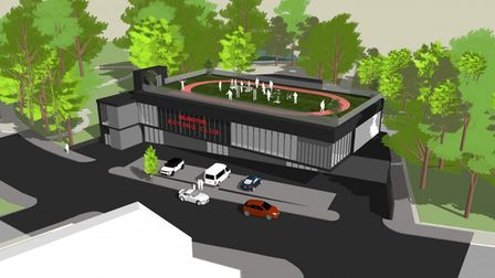 An artist's impression of what Islington Boxing Club's new £4m building might look like if it gets planning permission