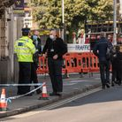 Police investigate the scene of an incident on St Matthews Street in Ipswich