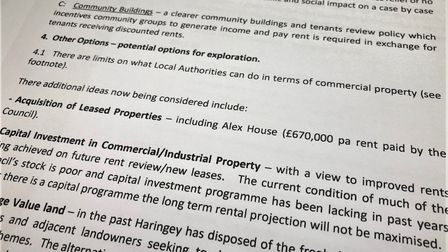 Leaked Haringey Council documents about Alexandra House