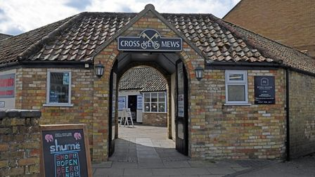 The Cross Keys Mews is on the High Street.
