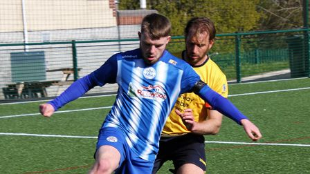 Clevedon's Will Gould in action against Plymouth Parkway