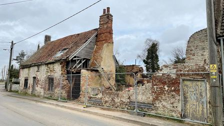 Three derelict cottages at29 Dovecote Road, Upwell, Wisbech, are to be sold in an online auction.