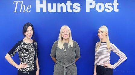 Hunts Post team Clare, Debbie and Alex launched the campaign in October 2020
